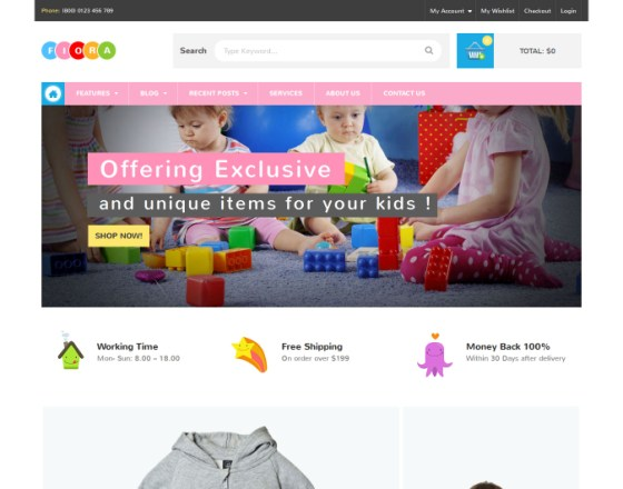 VG Fiora - WooCommerce WordPress Theme for Kids Store