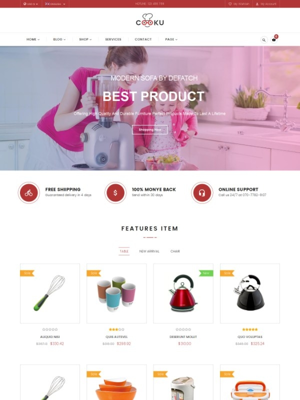 Vina Cooku - Clean, Simple VirtueMart Joomla Template
