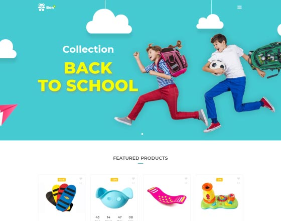 Bonbon - Baby Shop, Kids Store WooCommerce Theme