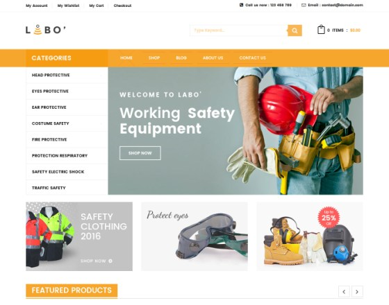 VG Labo - WooCommerce Theme for Tools, Equipment Store