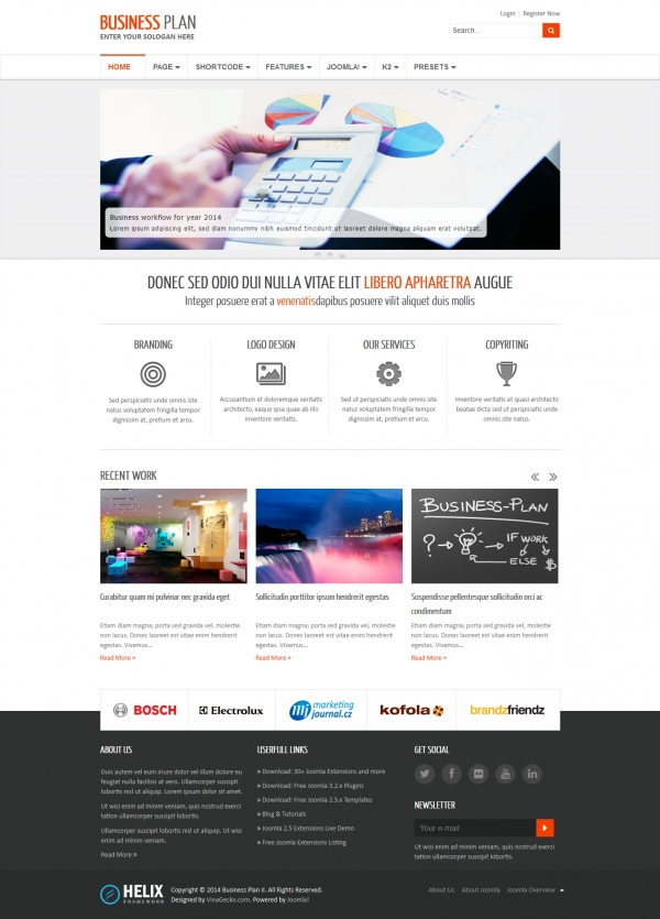 Business Plan II - Free Responsive Business Joomla Template