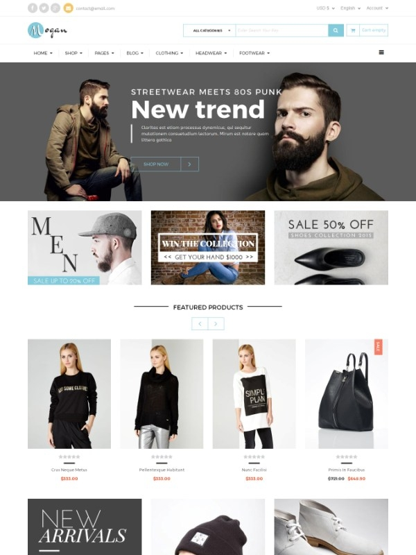 Vina Mogan - Responsive VirtueMart Fashion Template